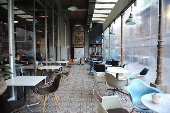hongdae design cafe ultimate milk  seoul hongdae aA museum coffee shop