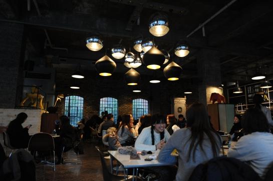 aA design museum interior cafe coffee shop